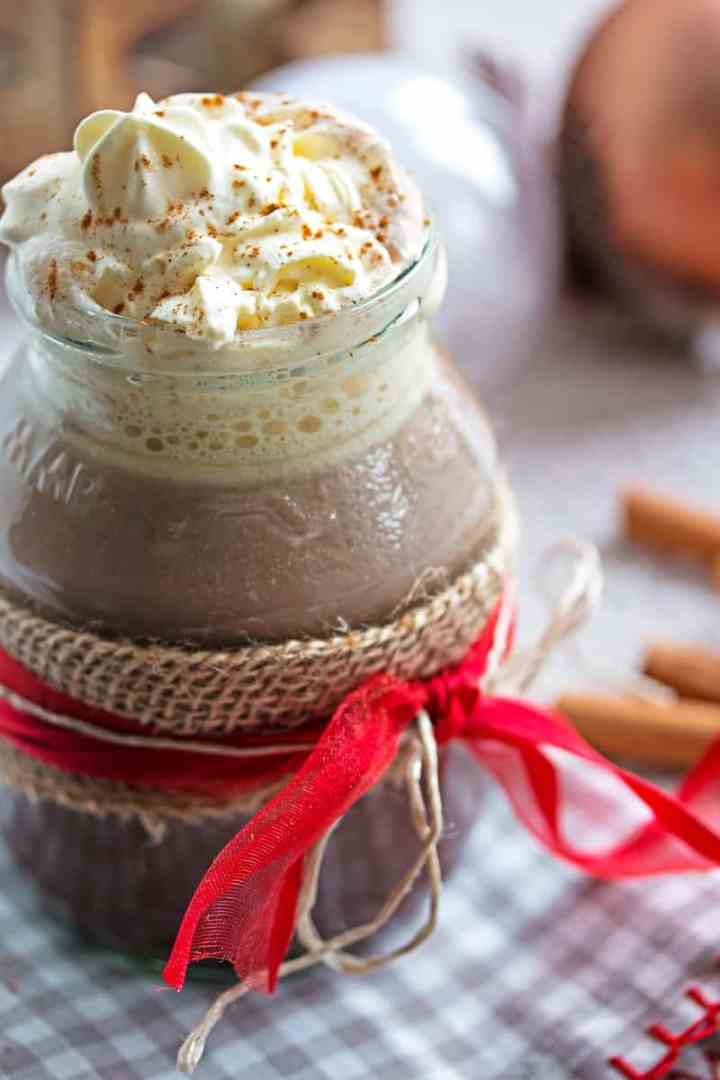 Favorite Gingerbread Spiced Hot Chocolate - Don't let Starbucks have all the fun! Whip up this delicious holiday treat your whole family will enjoy!