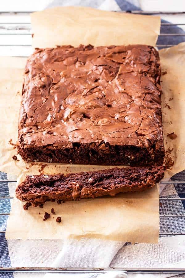 One bite and you'll forget you ever tasted boxed brownies! This is hands down the BEST homemade recipe I ever tried.