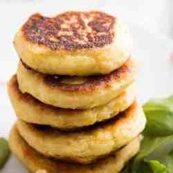 stack of mashed potato pancakes