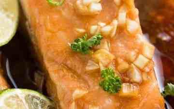 salmon fillet close up