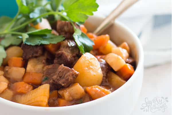 This easy classic beef stew recipe is cooked in one pot on the stove top.