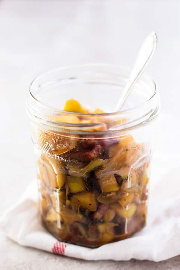 Apple Bacon Compote in a jar