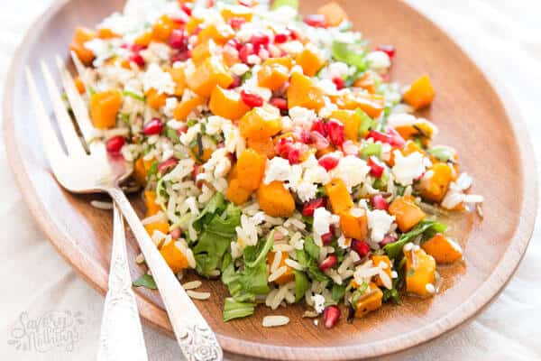Harvest wild rice salad, the perfect healthy side dish for Thanksgiving.