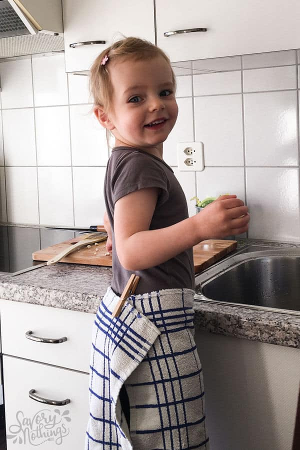 A post for moms who feel guilty because they know they need to teach their kids life skills, but get chills just thinking of the littles in the kitchen.
