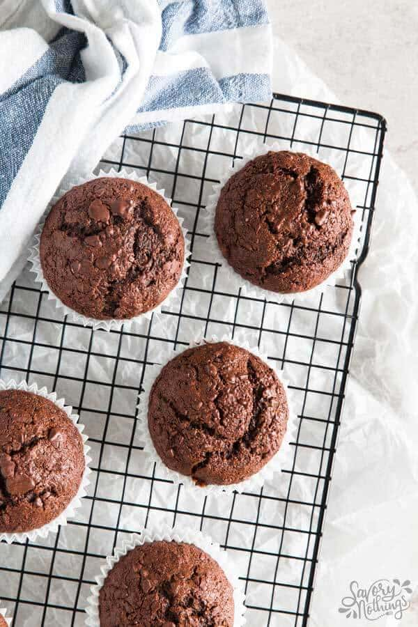 Make a double batch of these healthier chocolate banana muffins this weekend to stock your freezer with.