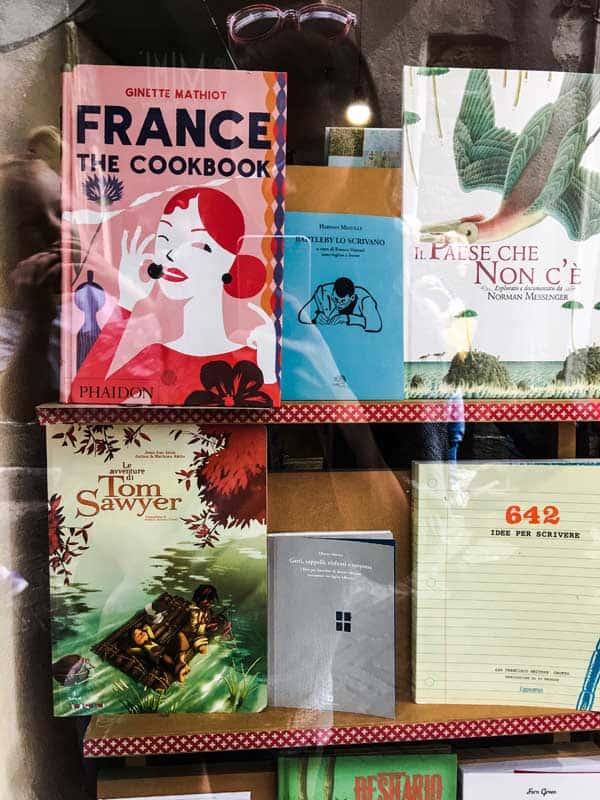 book shop window display