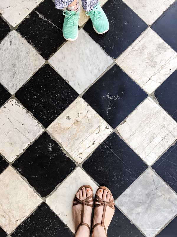 stone floor in Bergamo