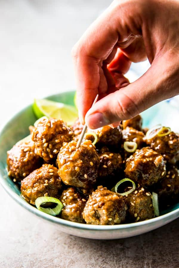 Try these crockpot meatballs as your next party appetizer! They're so delicious with the honey garlic flavors.