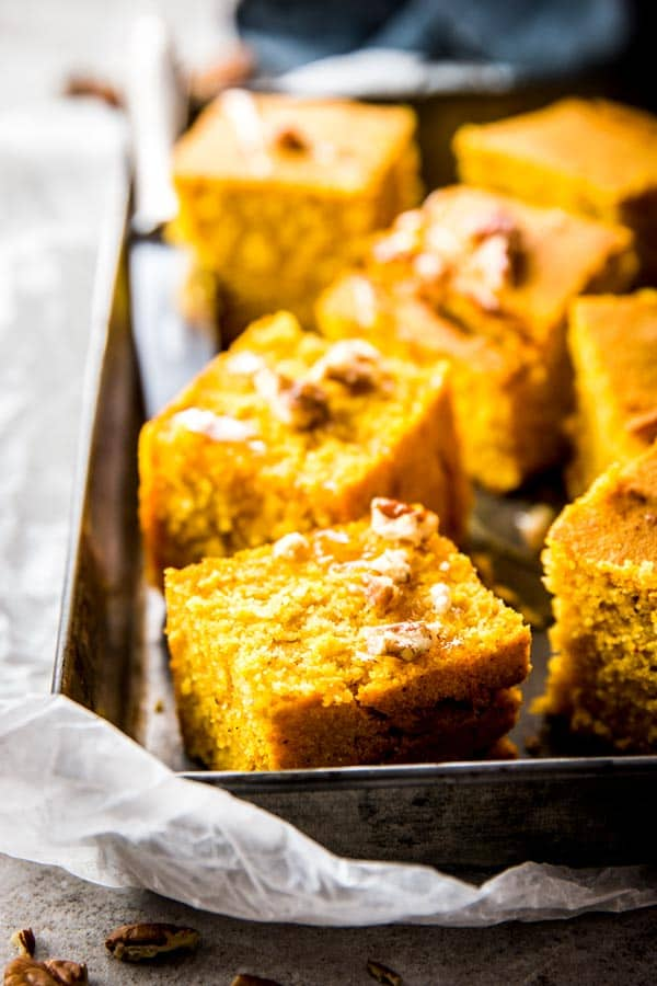 Pumpkin Cornbread is a sweet and delicious fall treat!