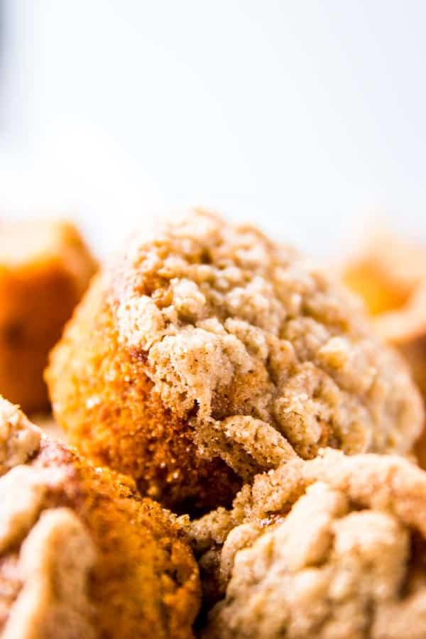 Banana Crumb Muffin Close Up