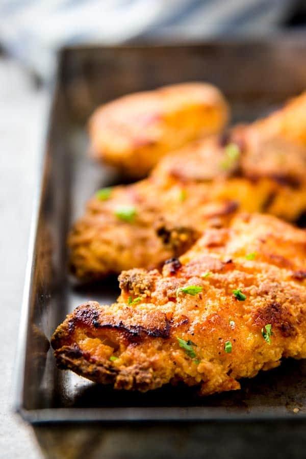 Truly Crispy Buttermilk Oven Fried Chicken