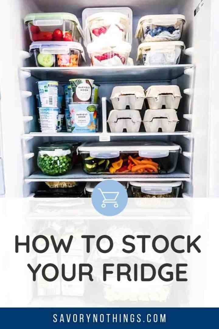 fridge Food List Pinterest Image