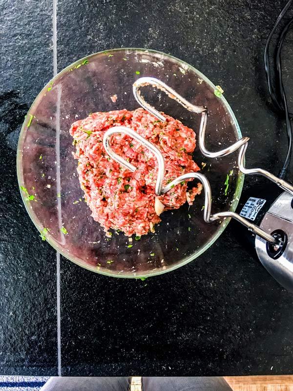 meat mixture for meatballs