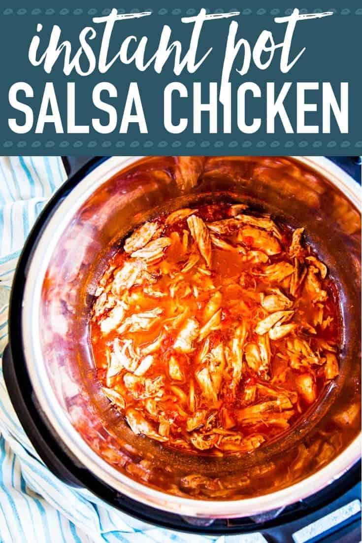 Instant Pot Salsa Chicken Image Pinterest 2