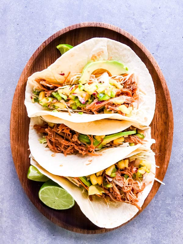crockpot pineapple bbq pulled pork tacos
