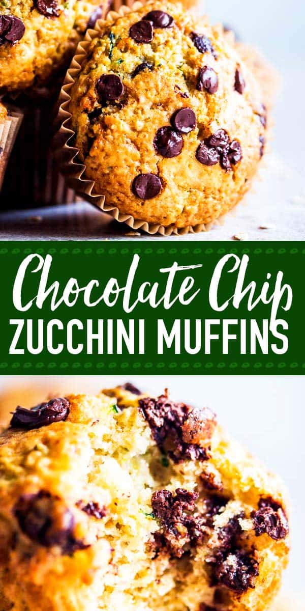 These soft Chocolate Chip Zucchini Muffins are going to make your school mornings amazing! The secret to making zucchini muffins this fluffy is to squeeze the zucchini once you have shredded it - and to not overmix the batter! Bonus: They are super freezer friendly, so you can always have some on hand for those crazy mornings! | #recipe #easyrecipes #kidfriendly #backtoschool #baking #brunch #breakfast #zucchini #zucchinirecipes #zucchinimuffins #zucchinibread #healthyrecipes #healthyfood #healthyliving