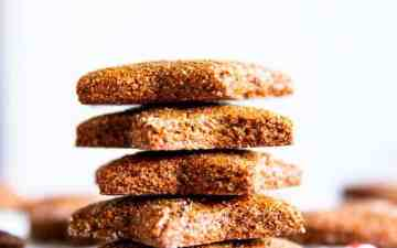 stack of gingerbread cookies