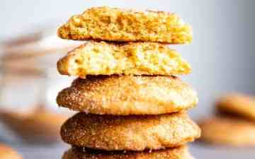 stack of snickerdoodle cookies