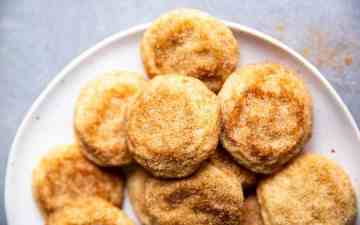plate of snickerdoodle cookies