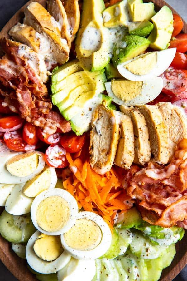 photo of meal prep Cobb salad