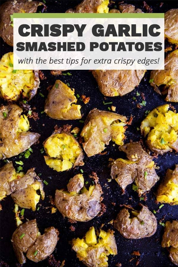 Garlic Smashed Potatoes Pin 1