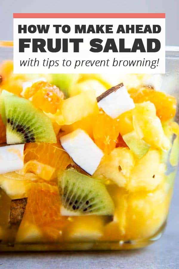 Make Ahead Fruit Salad Pin