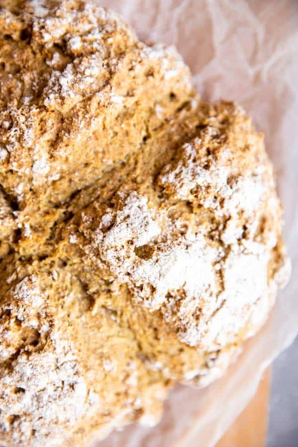 close up of traditional Irish soda bread