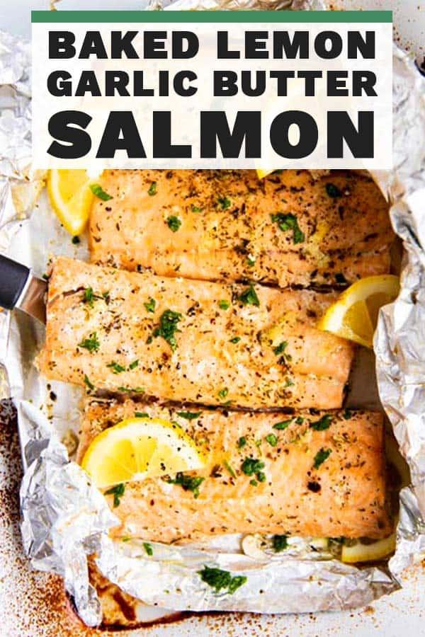 Lemon Garlic Butter Salmon Pin 1