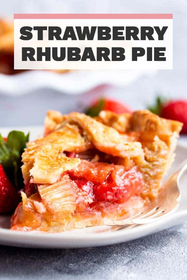 Strawberry Rhubarb Pie Image Pin 3
