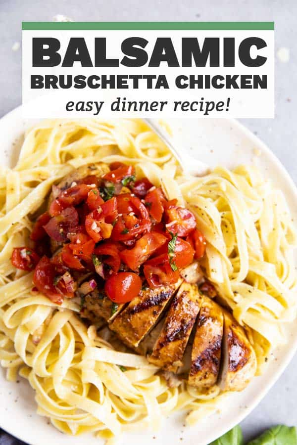 Balsamic Bruschetta Chicken Image Pin 1