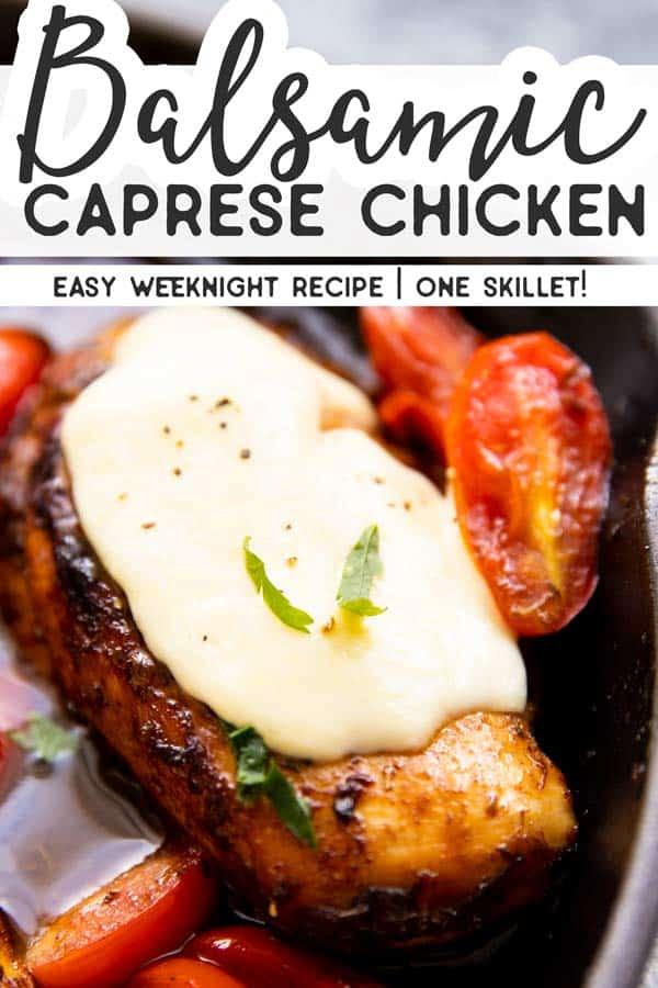 Balsamic Glazed Caprese Chicken Pin 1