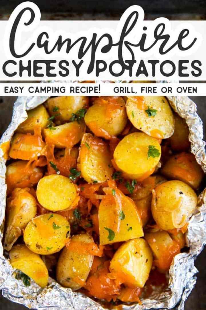 Cheesy Campfire Potatoes Pin 1