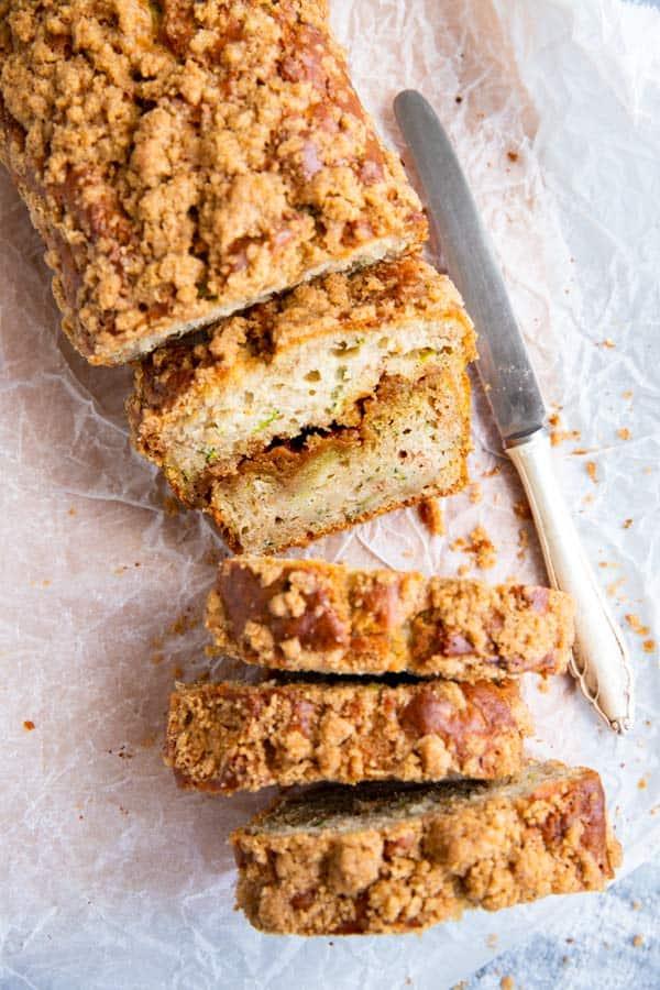 slices of cinnamon zucchini bread