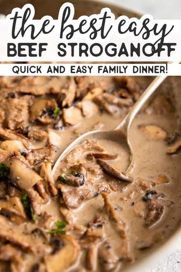 Easy Beef Stroganoff Pin 1