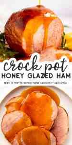Crock Pot Honey Ham Pin Image