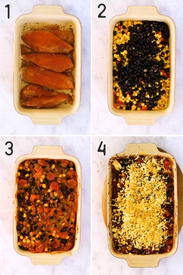 Southwestern Baked Chicken Image Steps