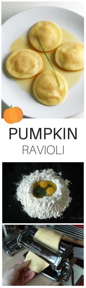 Homemade pasta is easier than you think! You most likely already have the ingredients you need. Pumpkin ravioli with brown butter sauce is the PERFECT fall recipe to get you started!