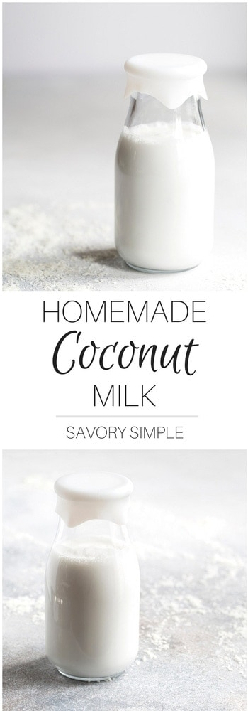 Wondering how to make coconut milk? Get this easy recipe with only two ingredients! It's a naturally sweet, creamy, non-dairy alternative that can be enjoyed on its own, in cereal, or in a wide variety of other recipes.