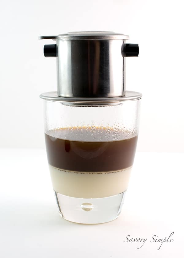 Learn how to make Vietnamese Iced Coffee at home! This drink uses sweetened condensed milk for the most rich, decadent coffee imaginable!