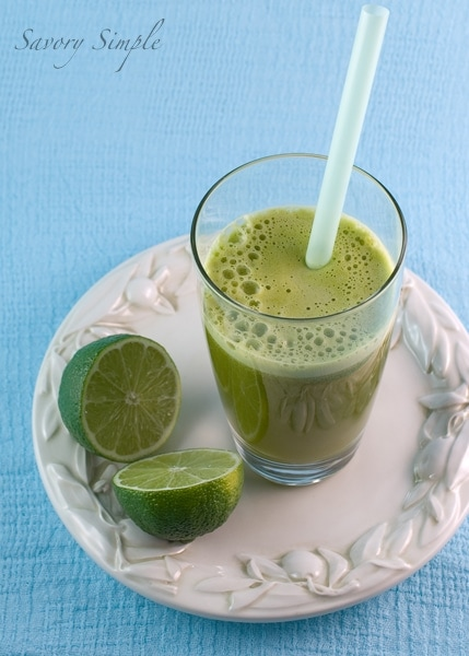 Basil Apple Lime Juice
