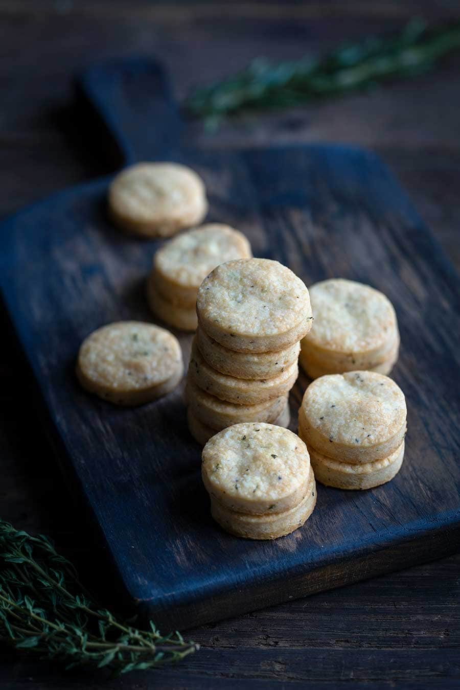 Closeup of homemade crackers recipe