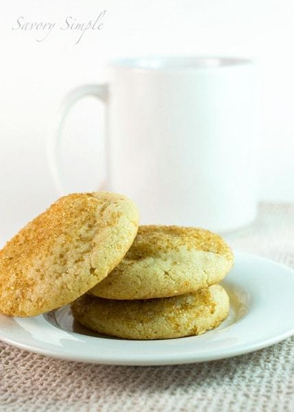 Orange Blossom Tahini Cookies