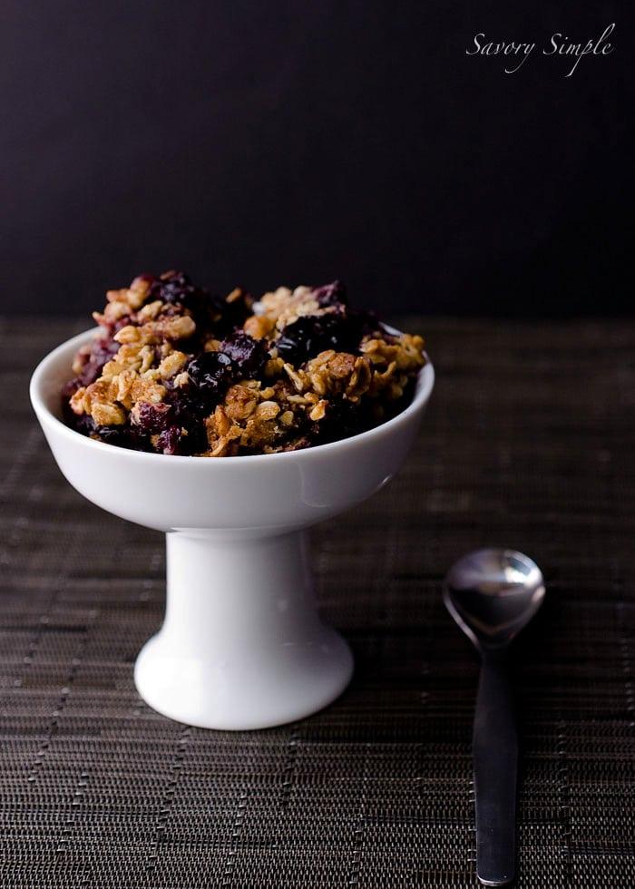 Blueberry Bourbon Crisp