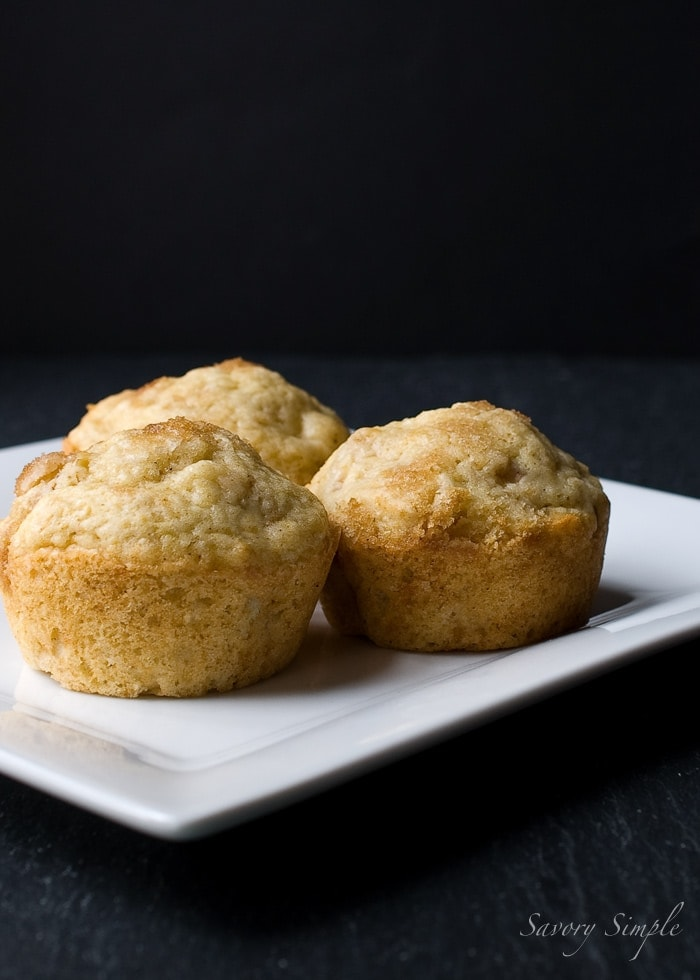 Brown Butter Apple Muffins ~ Savory Simple