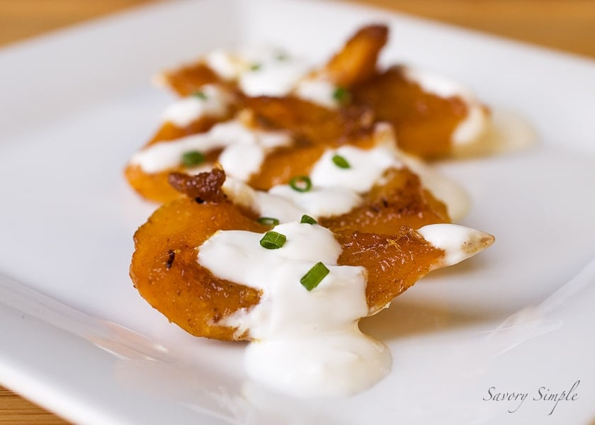 Baked Pumpkin with Garlic Yogurt Sauce ~ Savory Simple