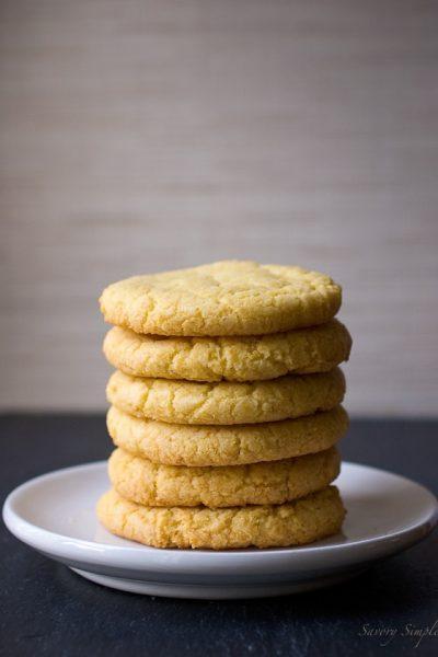 Corn Cookies - @SavorySimple