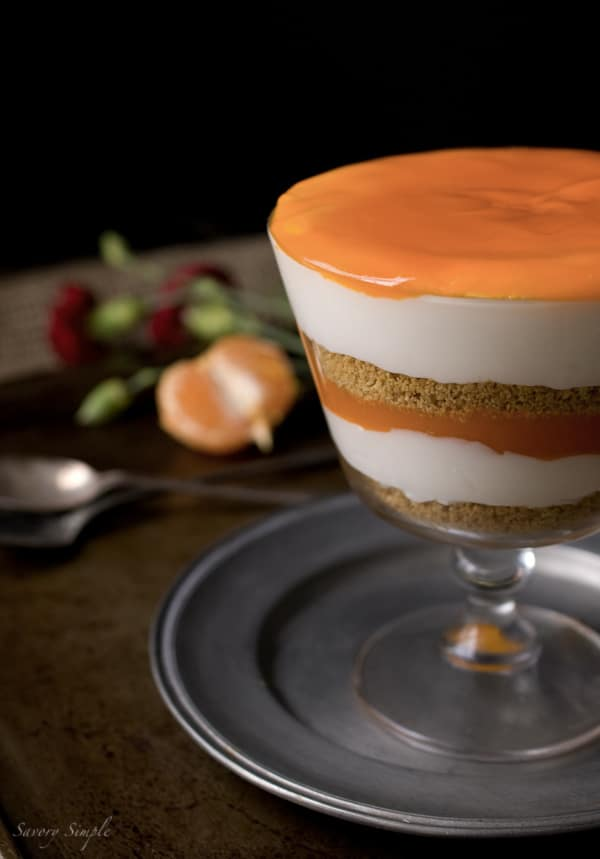 Clementine Curd Cheesecake Parfait ~ www.savorysimple.net ~ Savory Simple