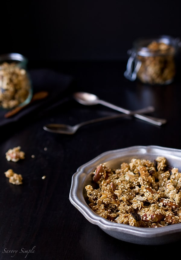 Quinoa Granola ~ Savory Simple ~ www.savorysimple.net