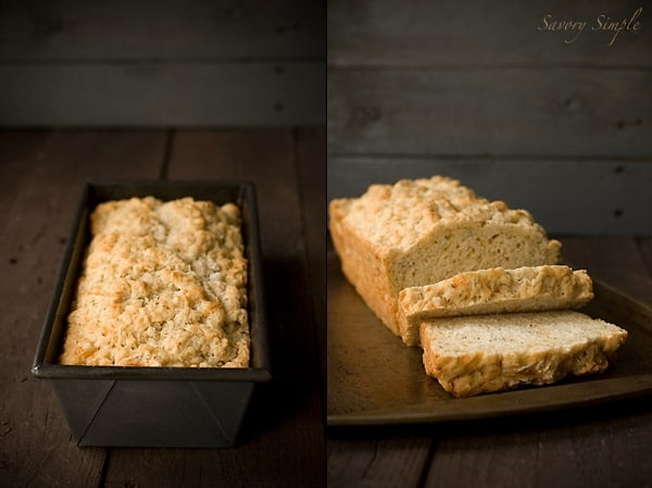 Cheddar Dill Beer Bread ~ Savory Simple ~ www.savorysimple.net