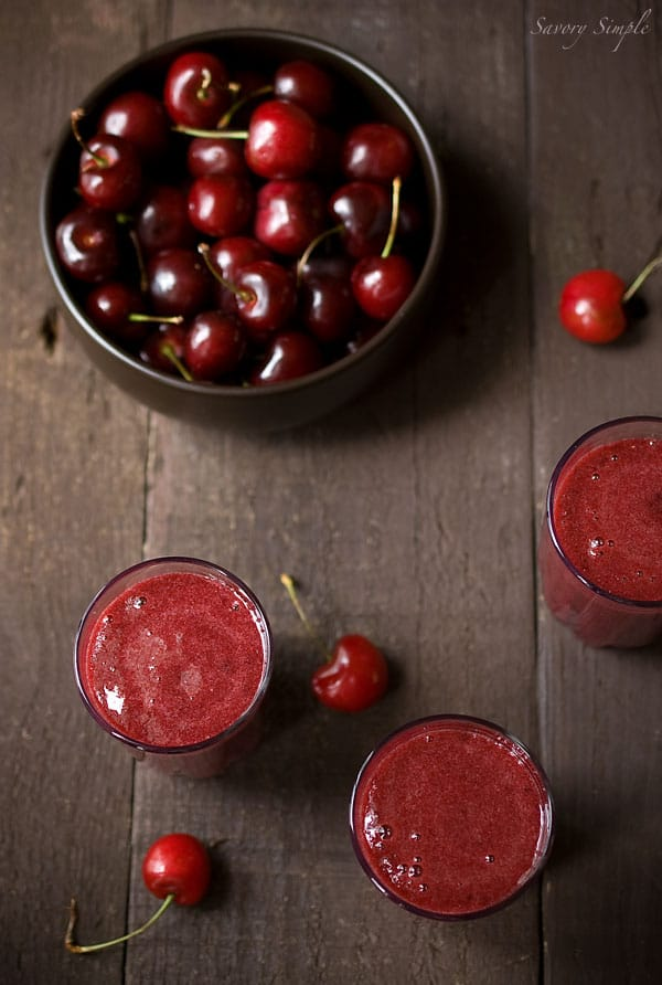 Cherry Gazpacho ~ Healthy Soup Recipe ~ Savory Simple